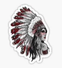 Red Indian - Color  Sticker