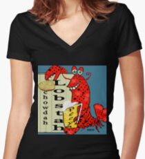 Lobstah, Chowdah N Beeya  Women's Fitted V-Neck T-Shirt
