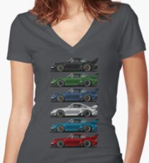 911 s Women's Fitted V-Neck T-Shirt
