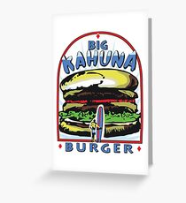 Big Kahuna Burger t-shirt (Pulp Fiction, Tarantino, Bad Motherf**ker) Greeting Card