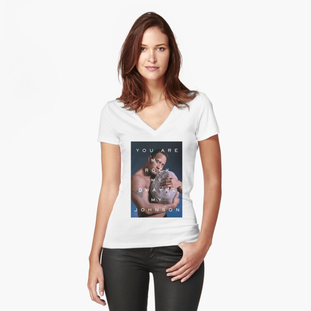 You Are My Rock Fitted V-Neck T-Shirt