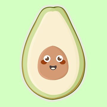 Kawaii Avocado by NirPerel