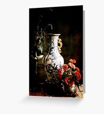 The Chinese Vase Greeting Card