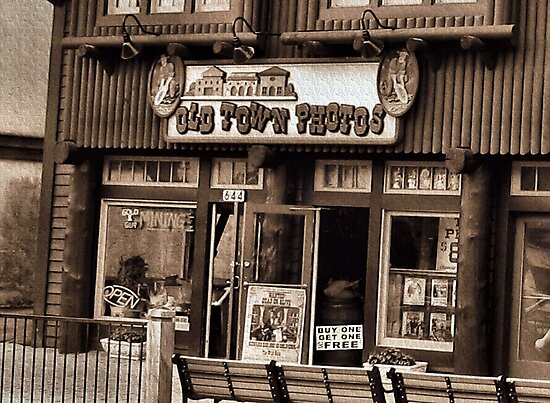 """""""Gatlinburg, Tennessee Series, #5... 'The Old Timey Photo Shop, 3rd Picture'""""... prints and products   by Bob Hall©"""
