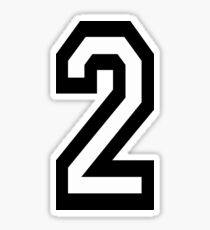 2, TEAM, SPORTS, NUMBER 2, TWO, SECOND, Twice, Duo, Couple, Competition Sticker