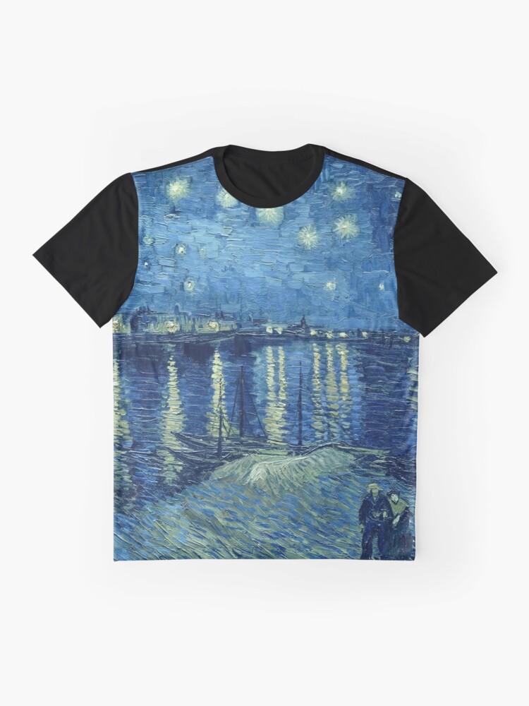 Alternative Ansicht von Vincent van Gogh - Sternennacht über der Rhône Grafik T-Shirt