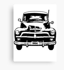 Chevrolet Truck - Black and White Canvas Print