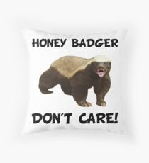 Honey Badger Don't Care Throw Pillow