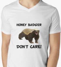 Honey Badger Don't Care Men's V-Neck T-Shirt