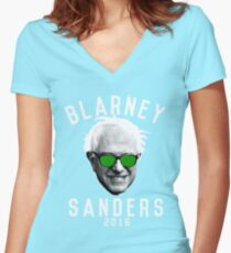 Blarney Sanders Women's Fitted V-Neck T-Shirt