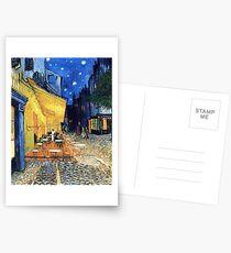 Vincent van Gogh - Die Café-Terrasse auf dem Place de Forum in Arles bei Nacht Postkarten