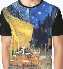 Vincent van Gogh - The Cafe Terrace on the Place de Forum in Arles at Nigh Graphic T-Shirt