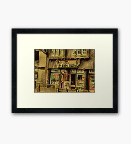 """""""Gatlinburg, Tennessee Series, #5, 'The Old Timey Photo Shop, 2nd Picture'""""... prints and products Framed Print"""
