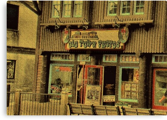 """""""Gatlinburg, Tennessee Series, #5, 'The Old Timey Photo Shop, 2nd Picture'""""... prints and products by Bob Hall©"""
