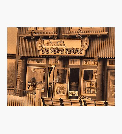 """""""Gatlinburg, Tennessee Series, #5... 'The Old Timey Photo Shop, 1st Picture""""'... prints and products Photographic Print"""