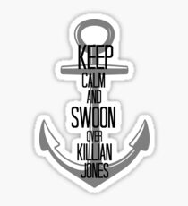Keep Calm And Swoon Over Killian Jones Sticker