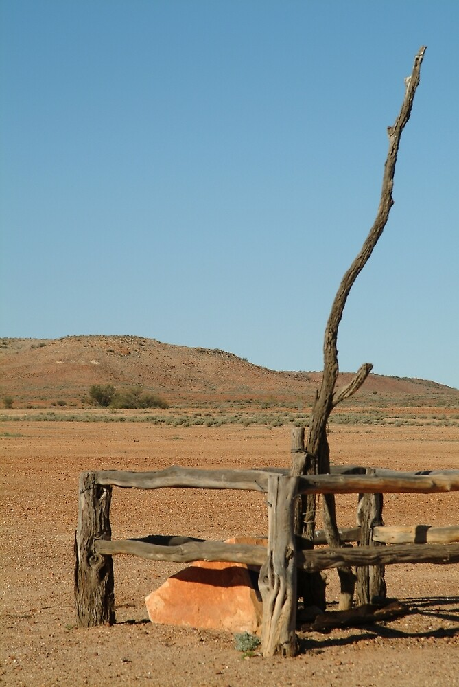 Joe Mortelliti Gallery - Historic Angle Telegraph Pole, Oodnadatta Track, South Australia. by thisisaustralia