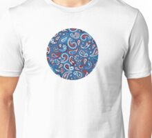Blue Paisley Unisex T-Shirt