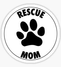 RESCUE MOM - CIRCLE - Alternate Sticker