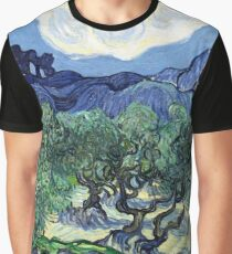 Vincent van Gogh - Olive Trees with the Alpilles in the Background Graphic T-Shirt