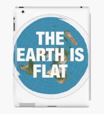 Flat earth research the truth iPad Case/Skin
