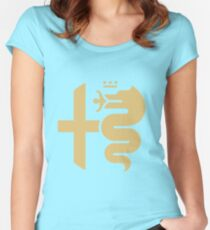Gold Alfa crest Women's Fitted Scoop T-Shirt