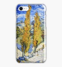 Vincent van Gogh - Two Poplars on a Hill iPhone Case/Skin