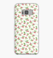 Strawberry Kitsch Vintage Cute Pattern Cath Kidston Samsung Galaxy Case/Skin