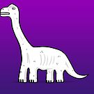 Cartoon Brachiosaurus by Chris Jackson