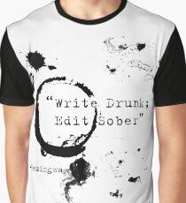 Hemingway Writer's Quote Graphic T-Shirt