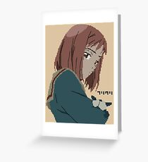 FLCL Mamimi pixelart Greeting Card