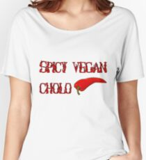 Spicy Vegan Cholo Pepper Women's Relaxed Fit T-Shirt