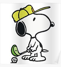 Snoopy Golf Poster