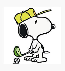 Snoopy Golf Photographic Print