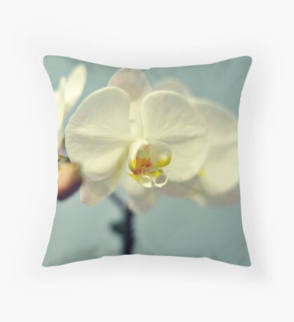 Vanilla Orchid Throw Pillow
