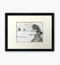 YORKSHIRE SNOW SCENE 2 Framed Print