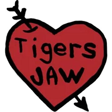 Tigers Jaw Heart Decal by katiej188