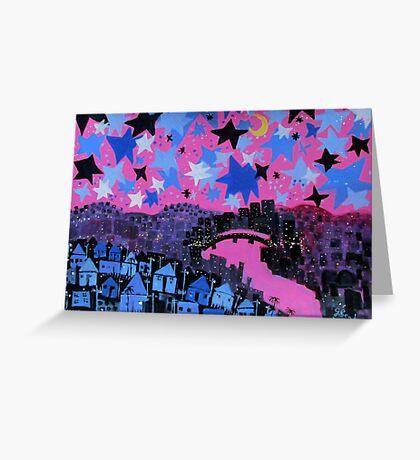 winter stars Greeting Card