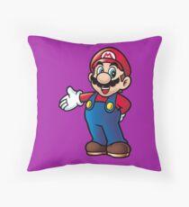 Super Mario - Good Old Days Throw Pillow