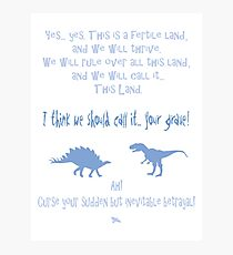 curse your sudden but inevitable betrayal, firefly, light blue Photographic Print
