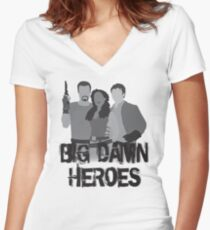 Big Damn Heroes - Firefly poster Women's Fitted V-Neck T-Shirt