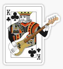 King Bass P Sticker