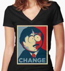 Randy Marsh Change Women's Fitted V-Neck T-Shirt