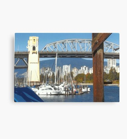 Boats & Bridges Canvas Print