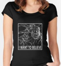 I Want To Believe - Bloodborne Women's Fitted Scoop T-Shirt
