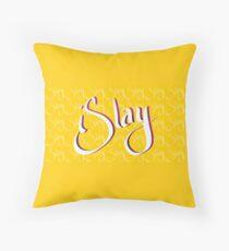 iSlay | White on White | Throw Pillow