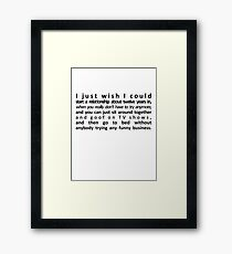 Perfect Relationship Framed Print