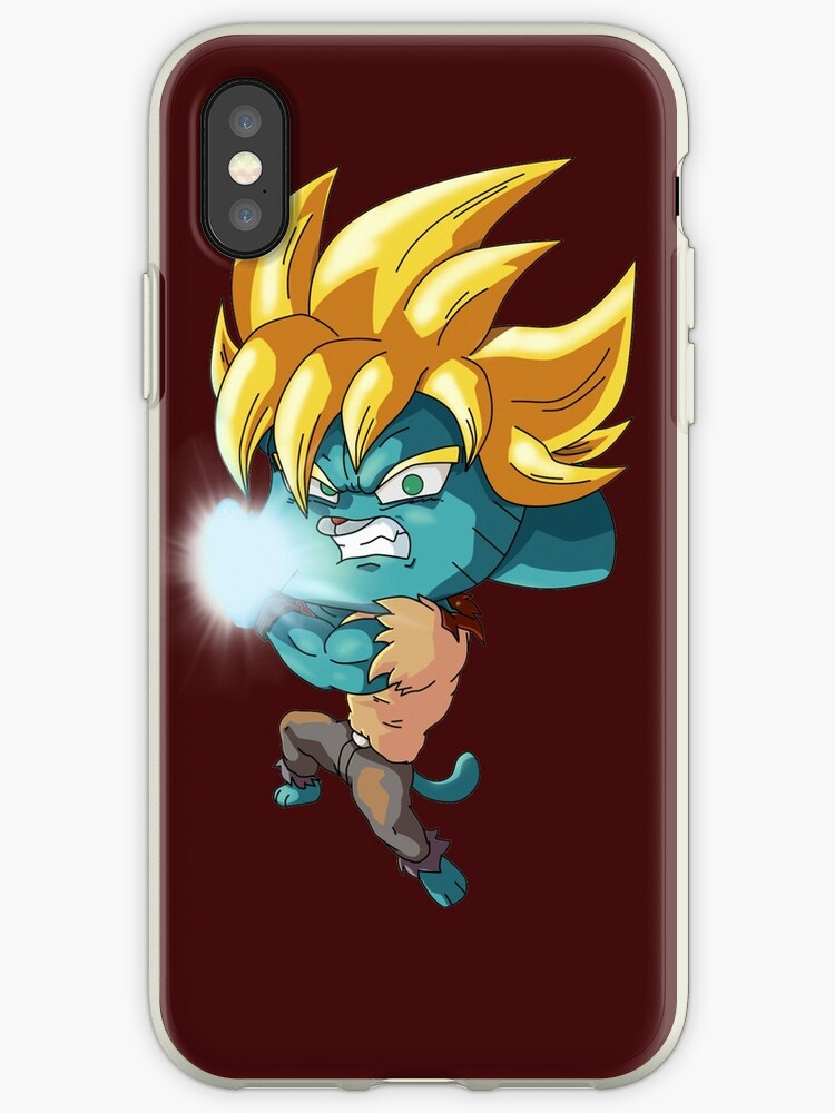 Gumball Super Saiyan Iphone Cases Covers By Mrket Redbubble