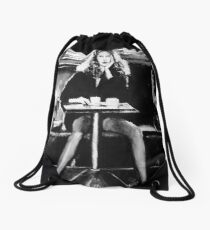Tribute to Helmut Newton Drawstring Bag