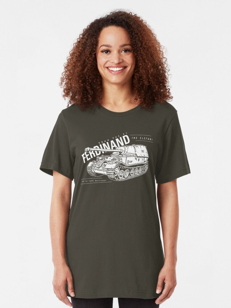 Alternate view of Ferdinand Tank Destroyer  Slim Fit T-Shirt